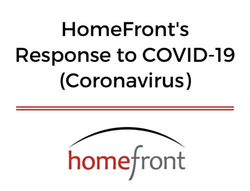 HomeFront's Response to COVID-19 (Coronavirus)